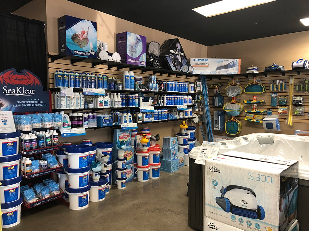 Backyard Spa and Leisure Chemical Showroom in Fresno, CA